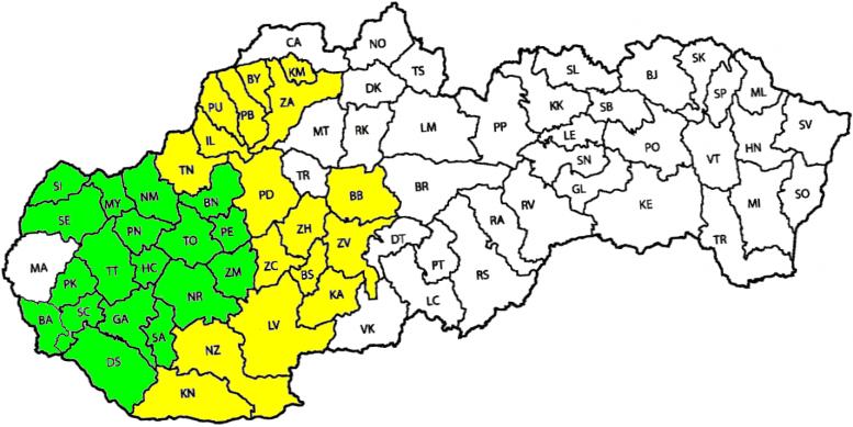Tarifné pásma 2 tarify mapa 2019.08.28